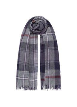 23e6702f562 Johnstons of Elgin Tartan Wide sjaal van merino wol met geruit dessin 190 x  75 cm
