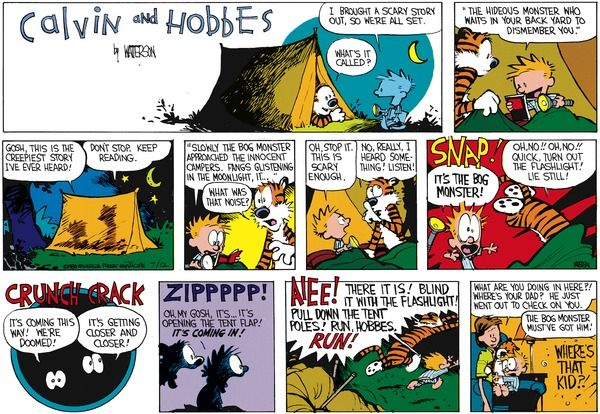 Calvin and Hobbes by Bill Watterson for August 21, 1988 | GoComics.com |  Calvin and hobbes, Calvin and hobbes comics, Calvin y hobbes