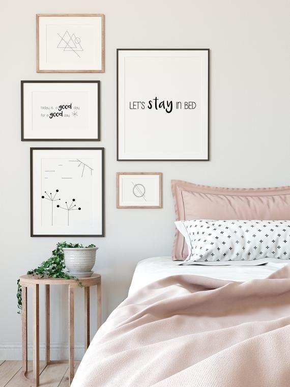 Let S Stay In Bed Print Wall Art Digital Print Etsy Affordable Bedroom Makeover Bedroom Makeover Bedroom Design