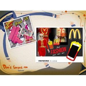 Im Angebot! Beide Handyhülle Kombipakete für Iphone5/5s/6/6s-- PISTOLE SILIKON HÜLLE und MOSCHINO POMMES FRITES HÜLLE