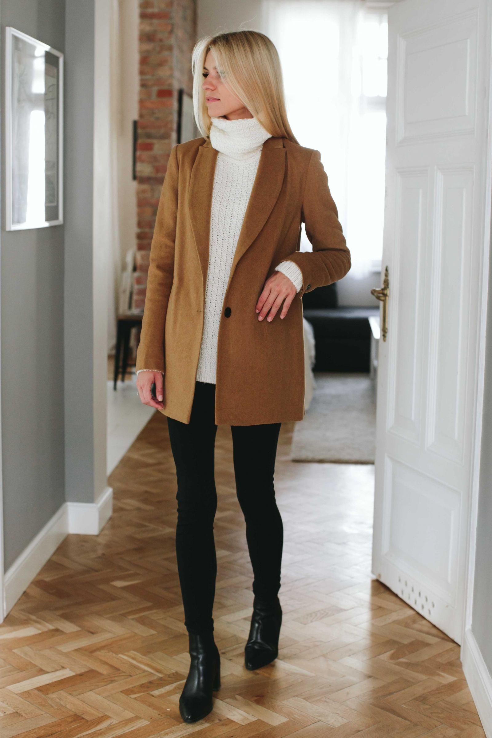 PREMIUM Karmelowy płaszcz - Wszystkie - MLE Collection
