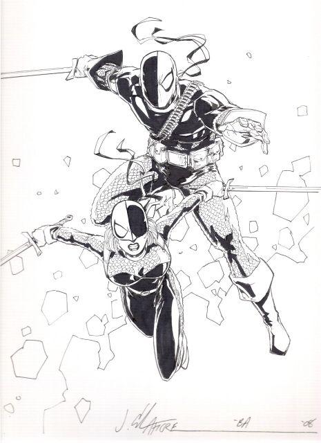 Deathstroke Jim Calafiore Deathstroke Comic Art Sketches