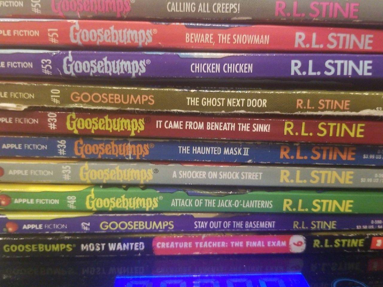 Lot Of 10 Goosebumps Books Goosebumps Most Wanted 6