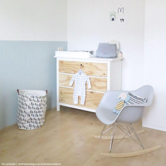 Verrassend Commode underlayment zelfmaken babykamer (met afbeeldingen QY-32