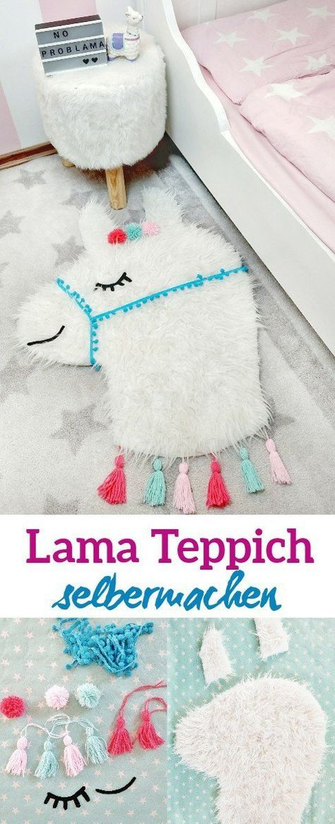 Lama Teppich selber machen - einfache DIY Anleitung für das Kinderzimmer - kleinliebchen
