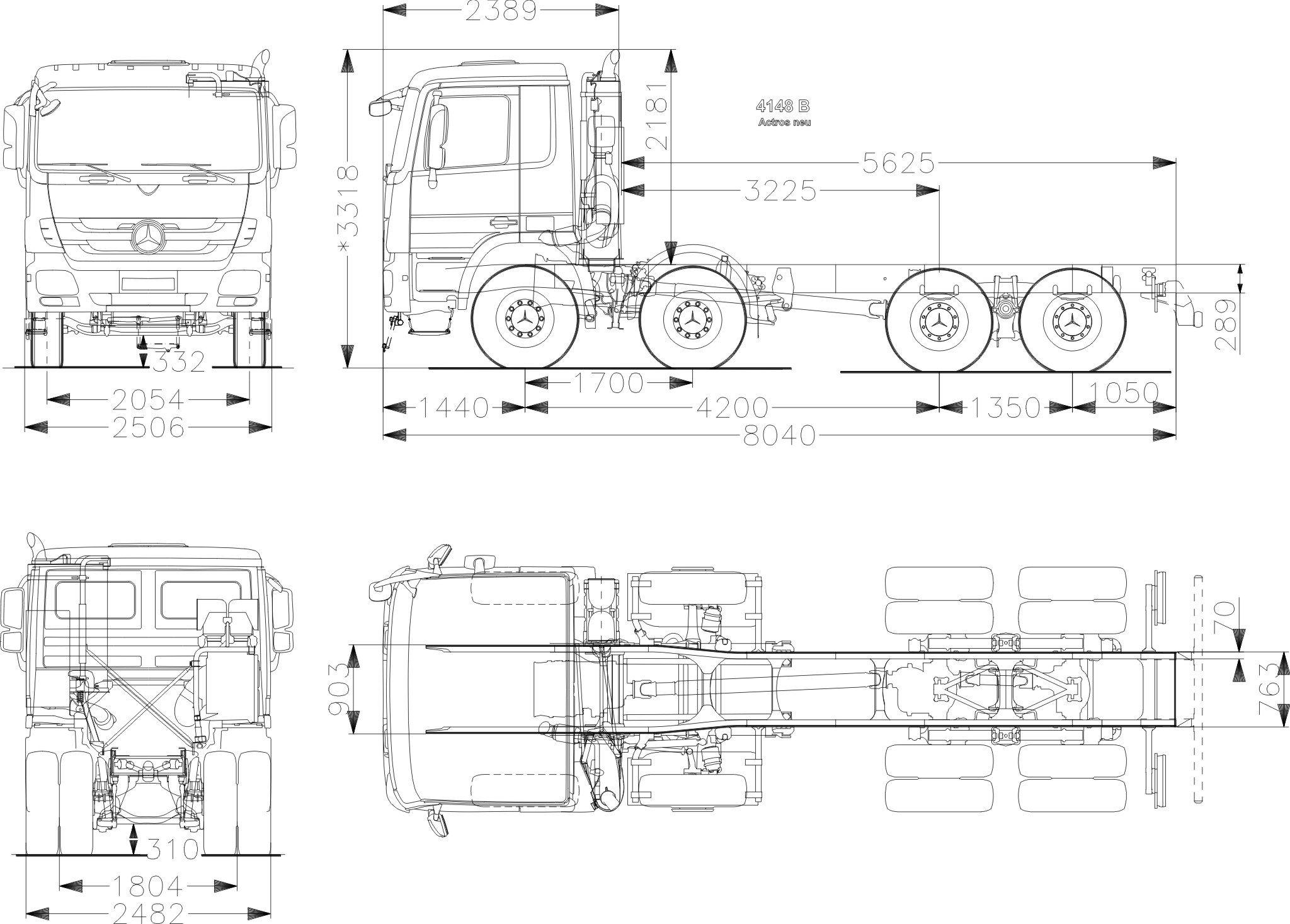 Mercedes Benz Actros 4148 B 8x4 2048 1467