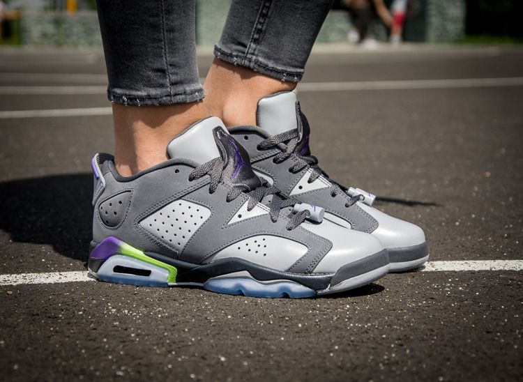 watch cec5b 47bc9 ... coupon code for nike air jordan 6 retro low gg ultraviolet wolf grey  gost green 768878