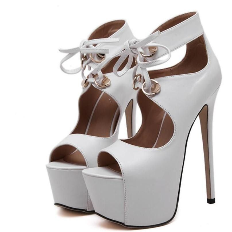 Latest Arena Runway Rome Sandals Women High Heels 16CM Sexy Open Toe Ankle  Strap Party Wedding