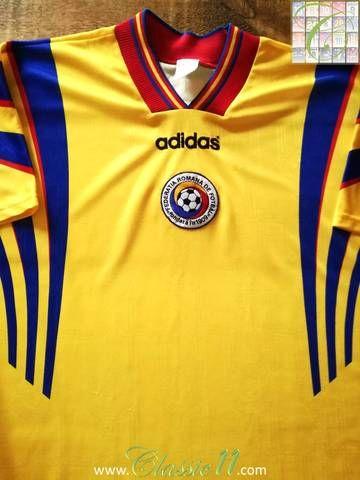 15f0bc537 Official Adidas Romania home football shirt from the 1996 1997 season.