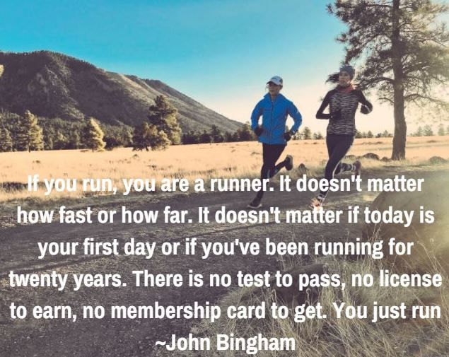 If you run, you are a runner!