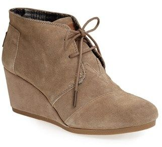978c0bad069 Toms 'Desert' Wedge Bootie (Women) on shopstyle.com | Fall Boots ...