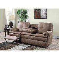 buck faux-leather reclining sofa | reclining sofa