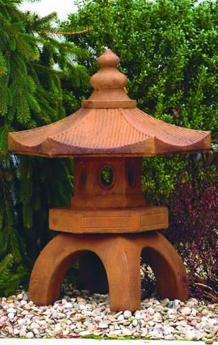 Amazing Bamboo Pagoda Asian Stone Garden Statue
