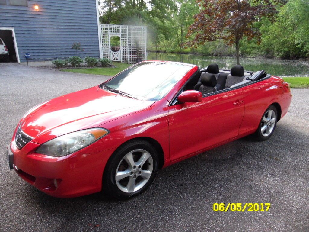 Awesome 2005 Toyota Solara Se Convertible Red Always Garaged Low Miles Car Is Actually An Camry No Reserve 2017 2018