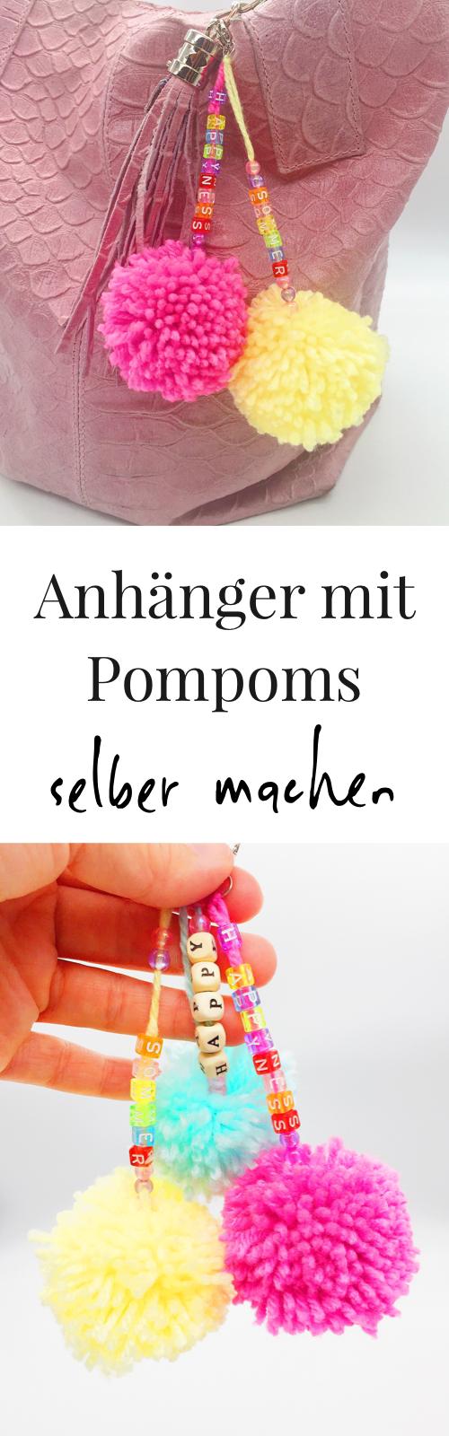 drei sommerliche diy und deko ideen mit pompons selber machen diy ideen auf deutsch pompons. Black Bedroom Furniture Sets. Home Design Ideas