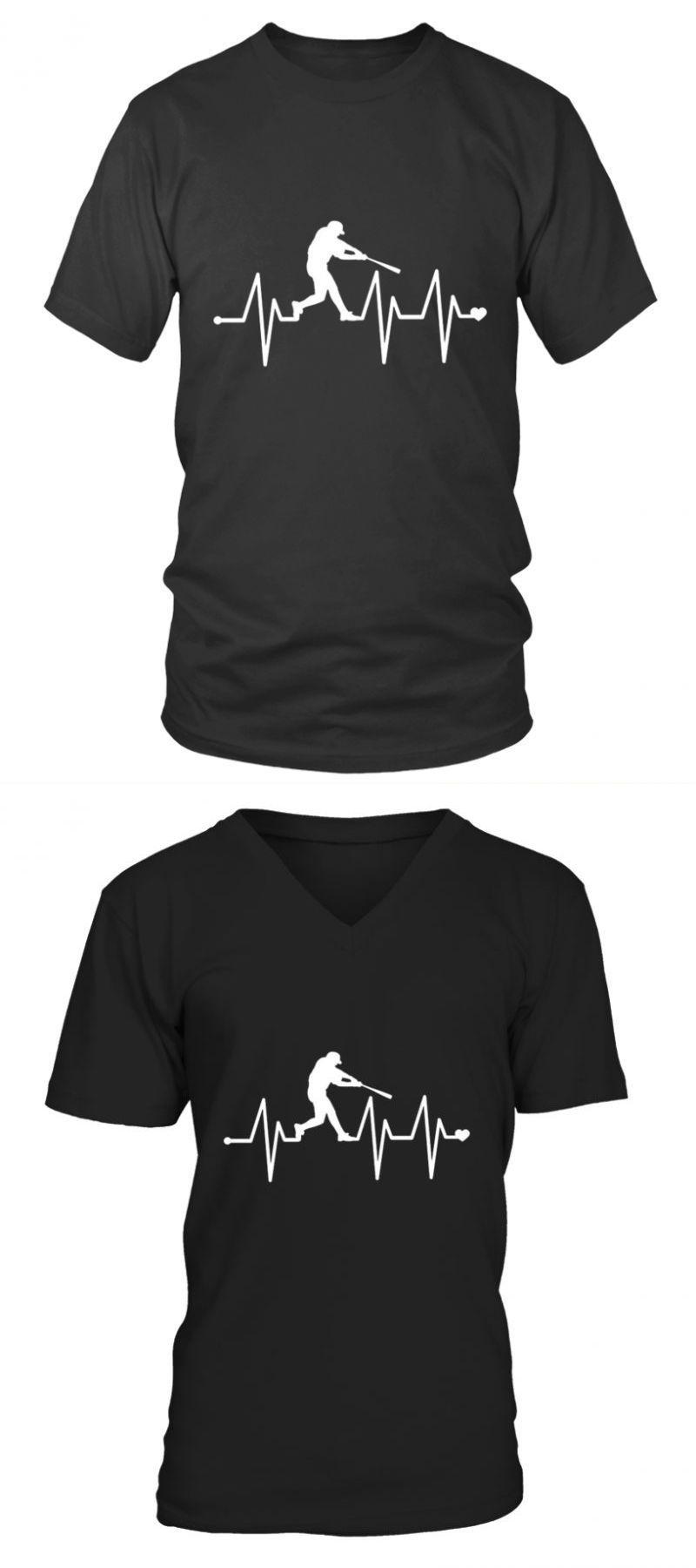 25507feb Baseball t shirt cheap baseball heartbeat pulse shirt baseball t-shirt  design templates #baseball #shirt #cheap #heartbeat #pulse #t-shirt #design  ...
