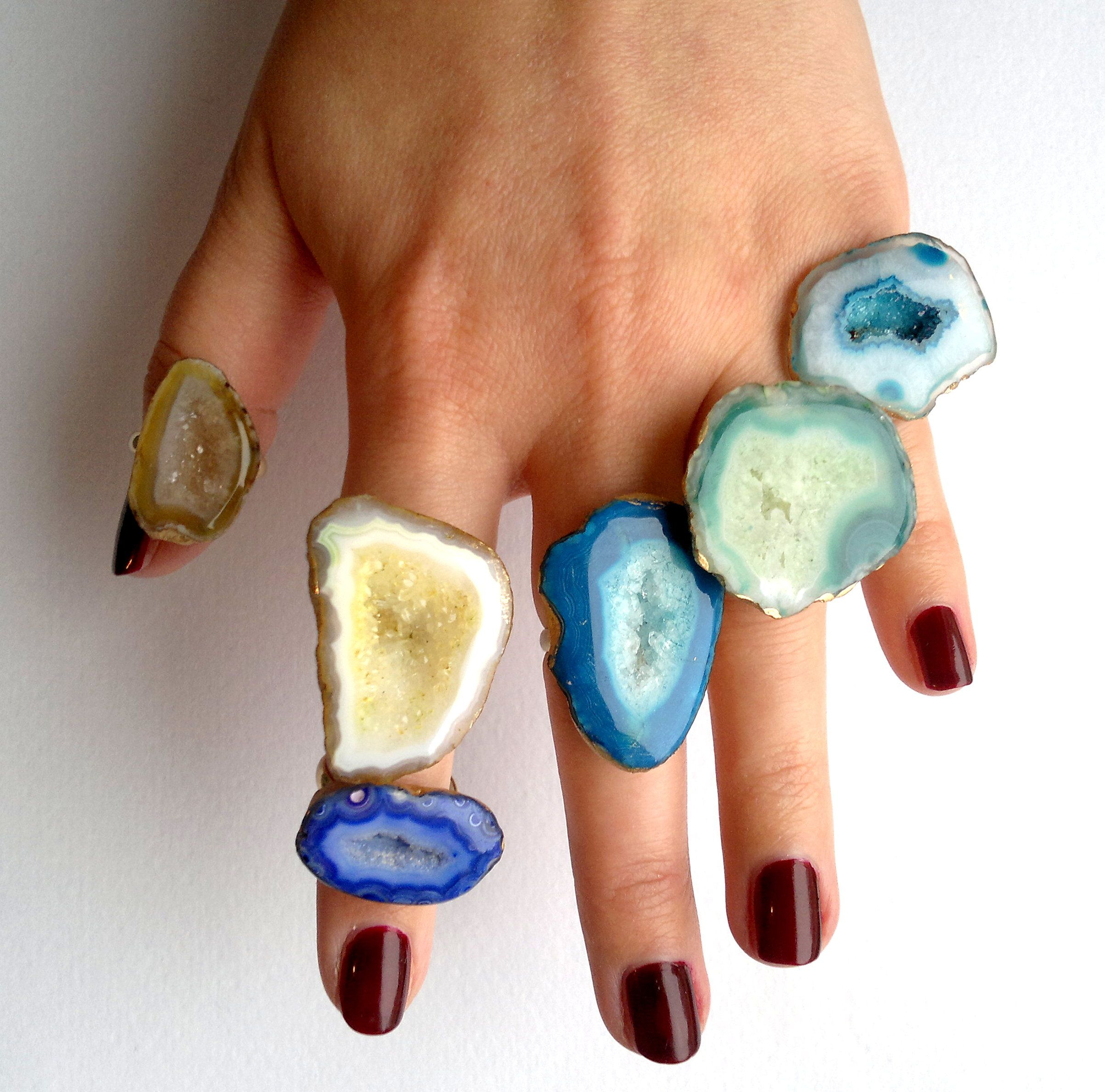 products joy agate ring speckled other vintage pearl melissa rings jewelry manning