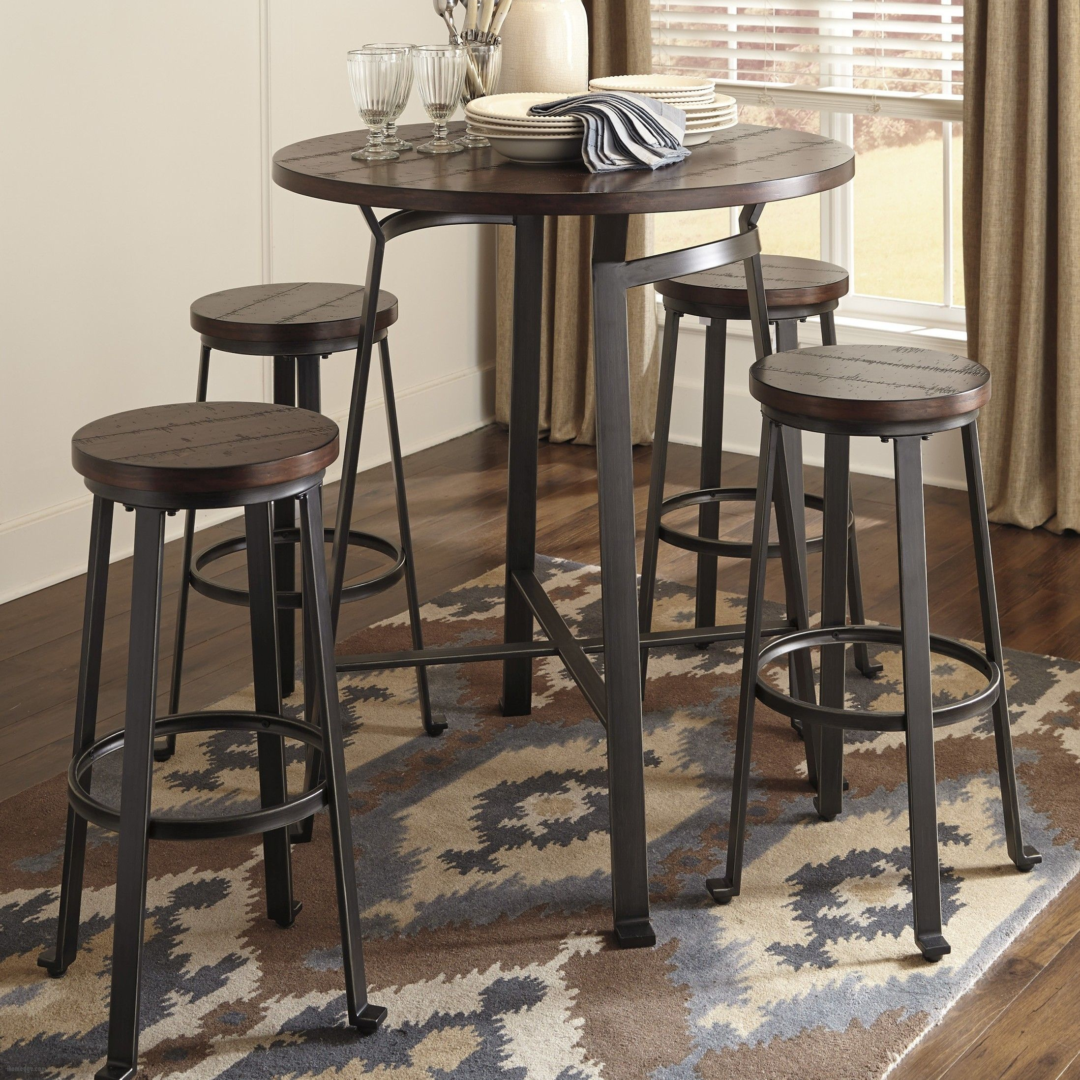 ideas rectangular best small table pub with chairs bunch kitchen for of flooring round carpet dining bar style