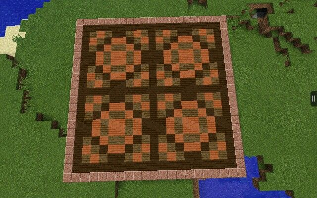 Floor Design I Made With Planks From The 0 9 0 Update Minecraft