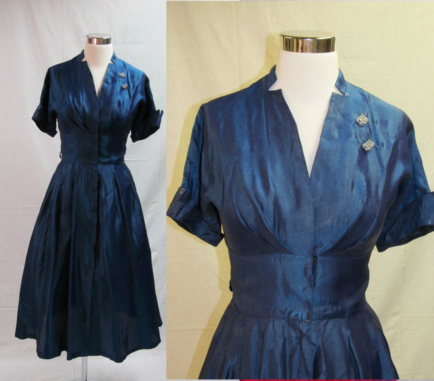 Kitchen Cabinet With Annabel Crabb: 40s 50s Midnight Blue Party Dress / Cocktail Dress
