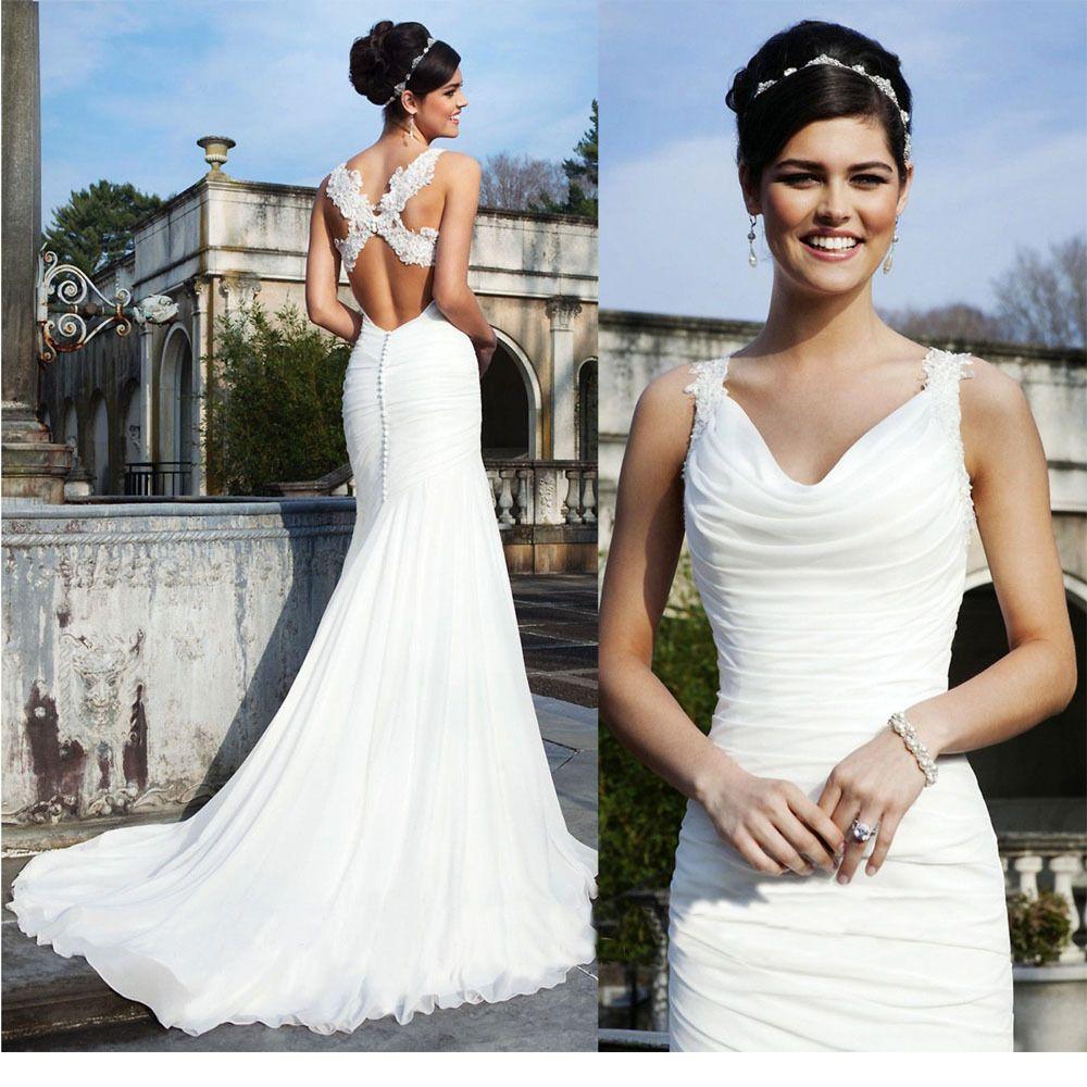 Customized Fashion Sexy Halter Mermaid Bridal Gown Long Tail Bride Wedding Dress Size