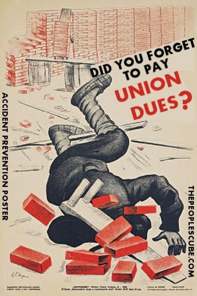 OBAMA CARTOONS: Pay your Union Dues and Avoid Accidents