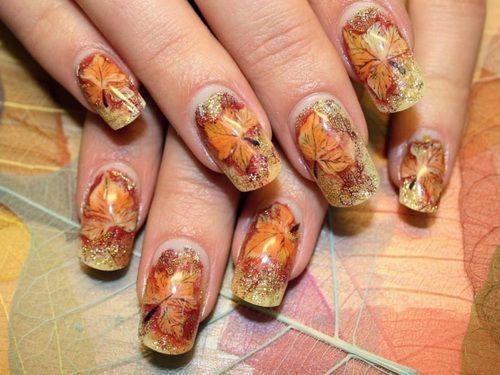 Modele De Unghii Cu Gel Pentru Toamna 2015 Yve Ro Thanksgiving Nail Art Easy Fall Nail Designs Fall Nail Art