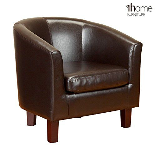 1home Bonded Leather Tub Chair Armchair For Dining Living Room