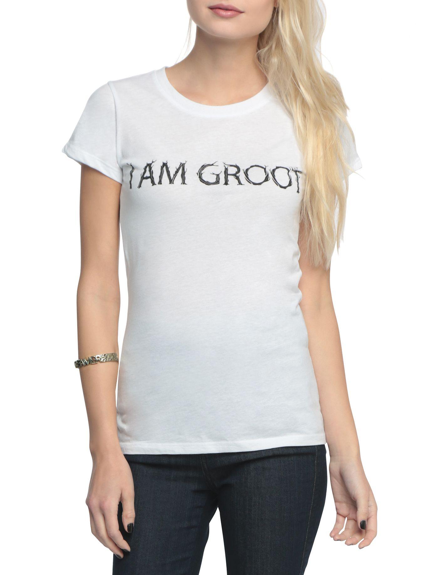 Black widow t shirt hot topic - Marvel Guardians Of The Galaxy I Am Groot Girls T Shirt Hot Topic