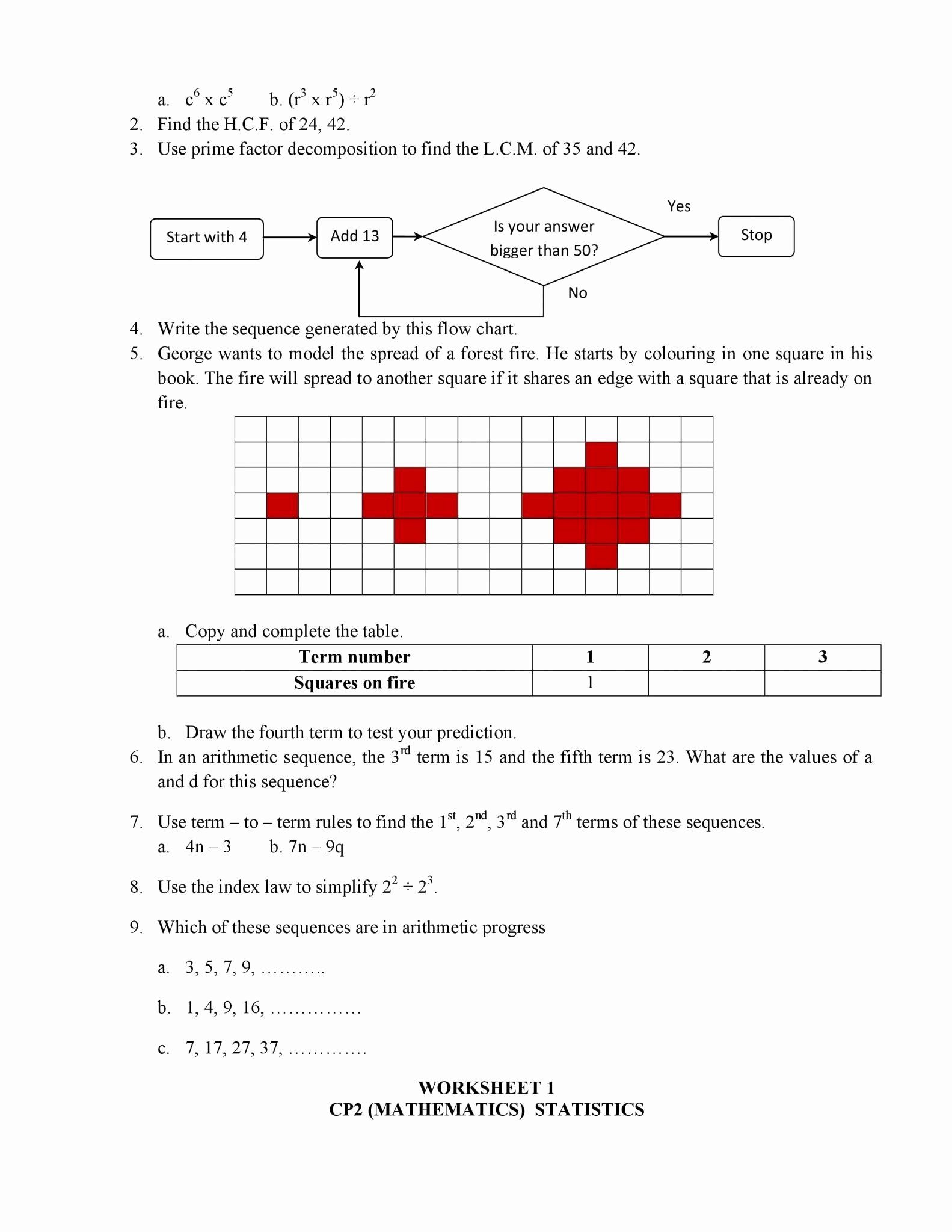 Arithmetic Sequence Worksheet Answers Lovely 50 Arithmetic