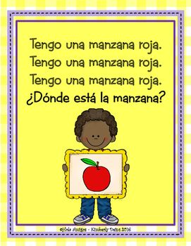 Las Frutas Song Game Posters Spanish Fruit Elementary Spanish Lessons Spanish Learning Apps Spanish Classroom Games
