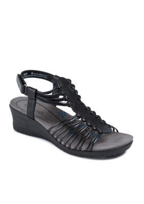 be8f283720e3 Baretraps Women s Trudy Wedge Sandal - Black - 7.5 Medium