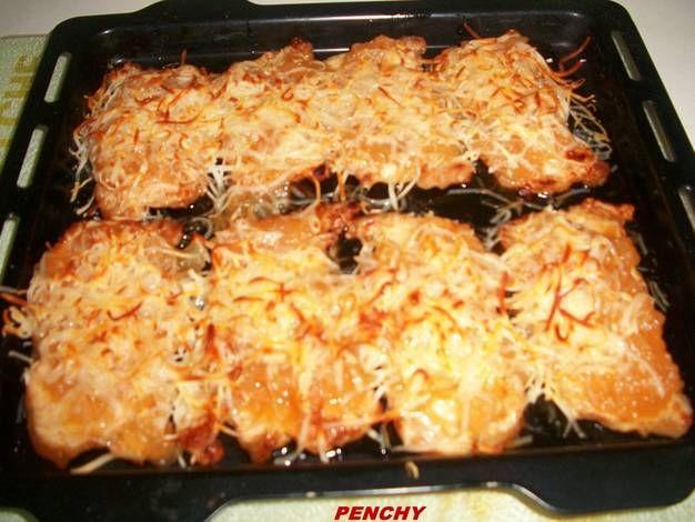 Filetes de lomo de cerdo gratinados al queso