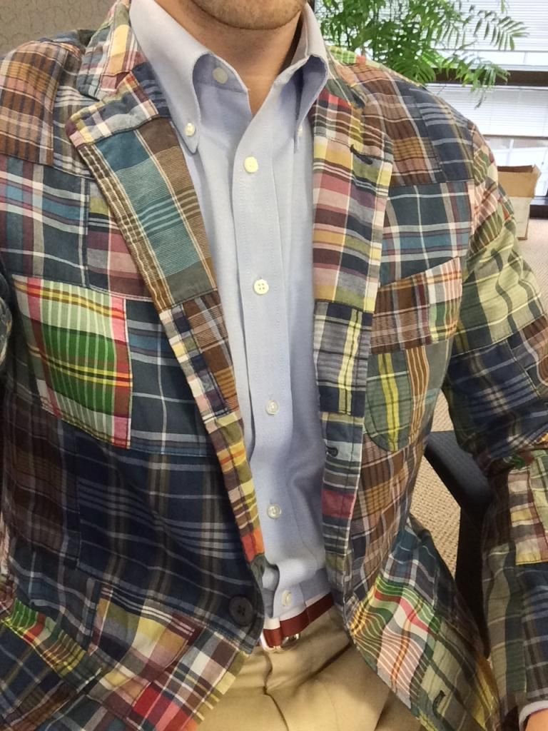 Polo Ralph Lauren patchwork India madras jacket. (With