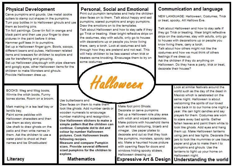 halloween eyfs medium term plan