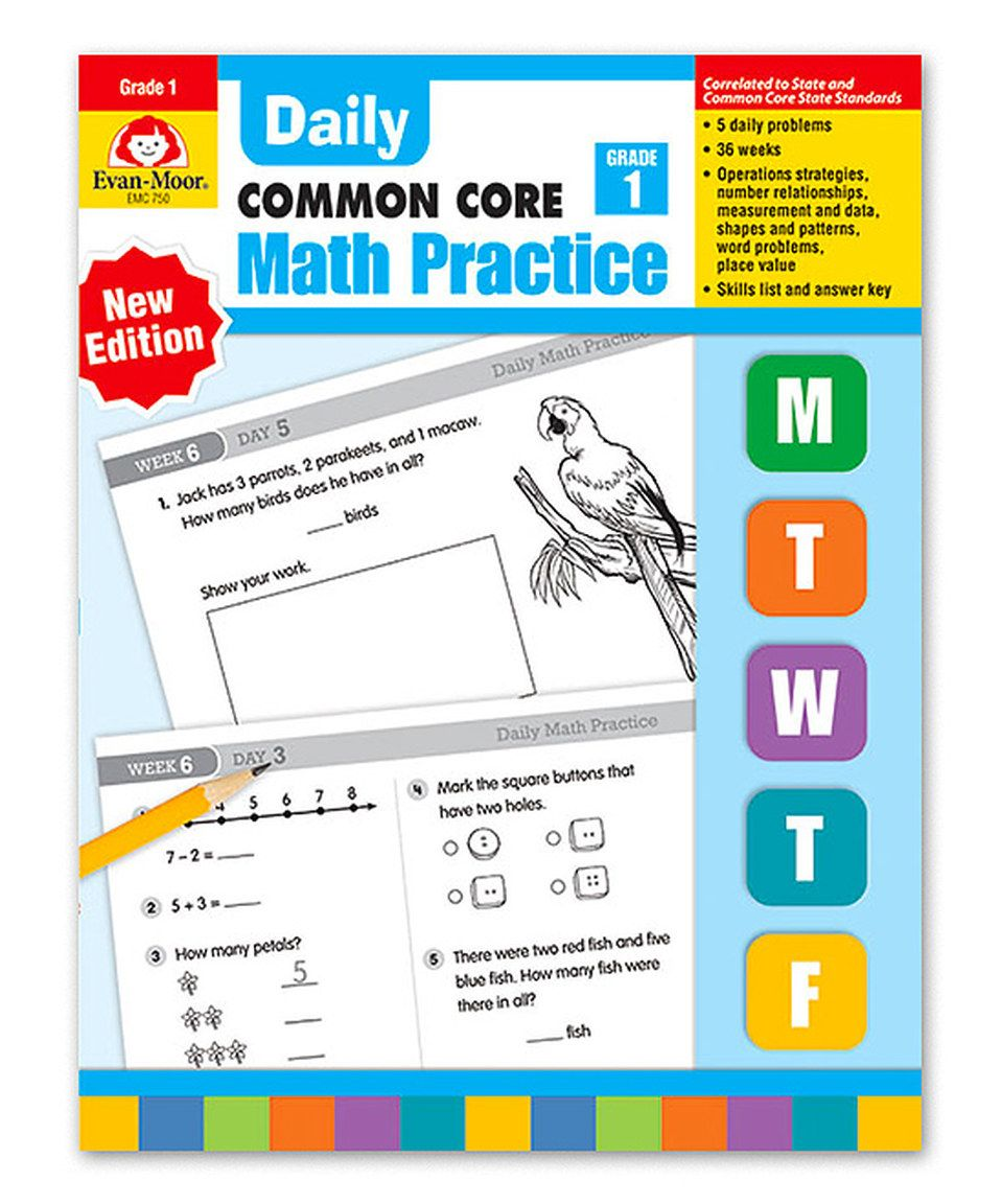 Evan-Moor Educational Publishers Grade 1 Daily Math Practice ...