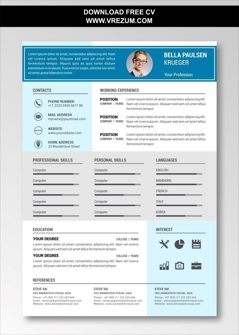 (EDITABLE) FREE CV Templates For University Students in