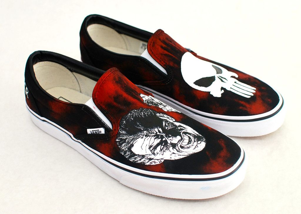 The Punisher Vans Custom Sneakers 76d41557f