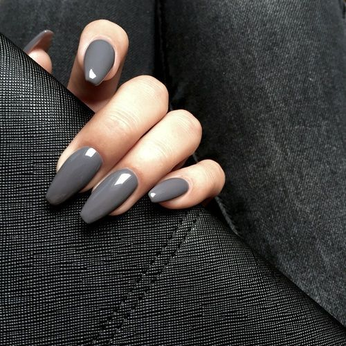 53 Elegant Grey Nails Art Designs and Ideas