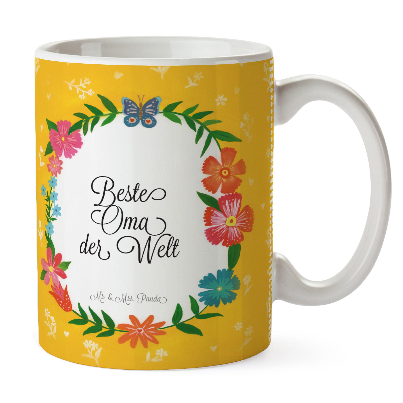 Tasse Design Frame Happy Girls Beste Oma der Welt aus Keramik Weiß ...