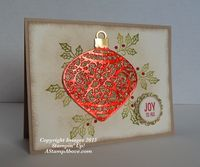 OOO LALA Ornament Card - A Stamp Above
