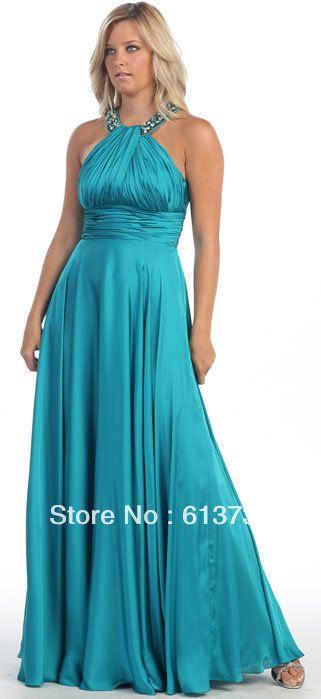 Wholesale 2013 Plus Size Halter Beading Turquoise Bridesmaid ...