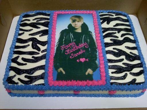 Walmart Zebra Birthday Cake