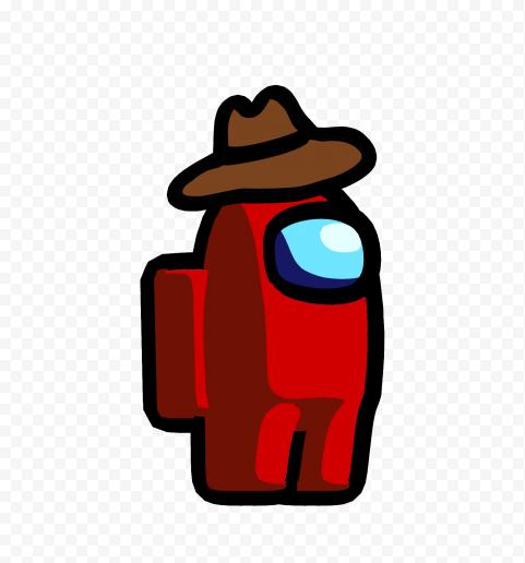 Hd Red Among Us Character Cowboy Hat Png Cowboy Hats Character Png