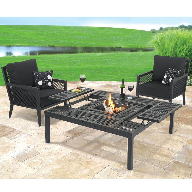The Outdoor Convertible Coffee to Dining Table.