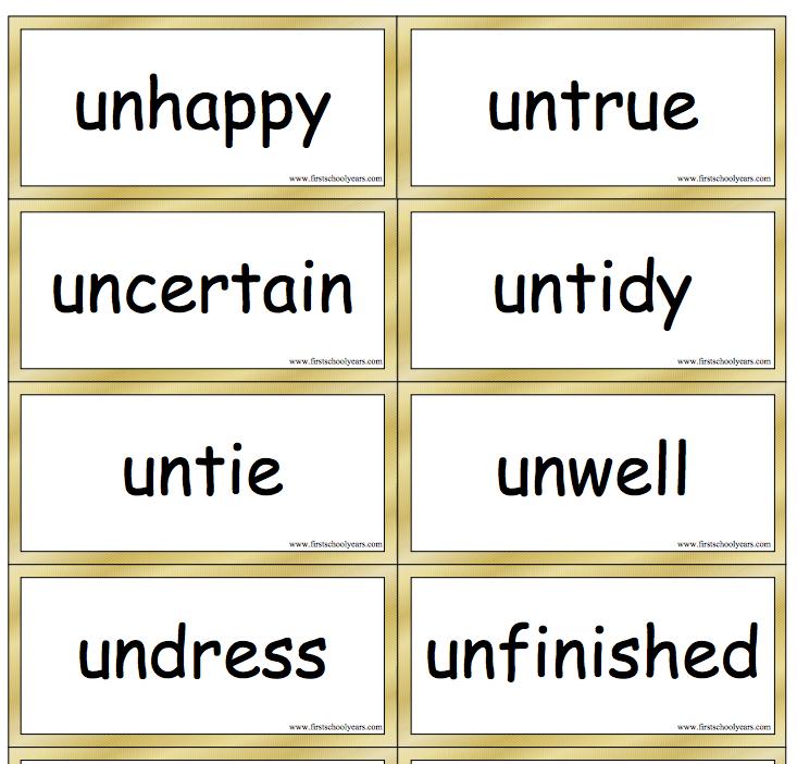 Image result for prefix un-