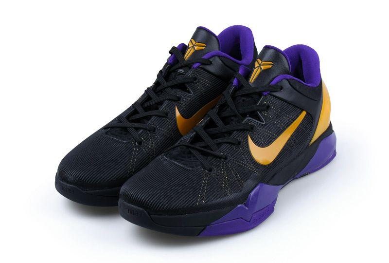 the best attitude b7b3b 70444 Nike Zoom Kobe 7 VII Lakers Away Black Purple Yellow