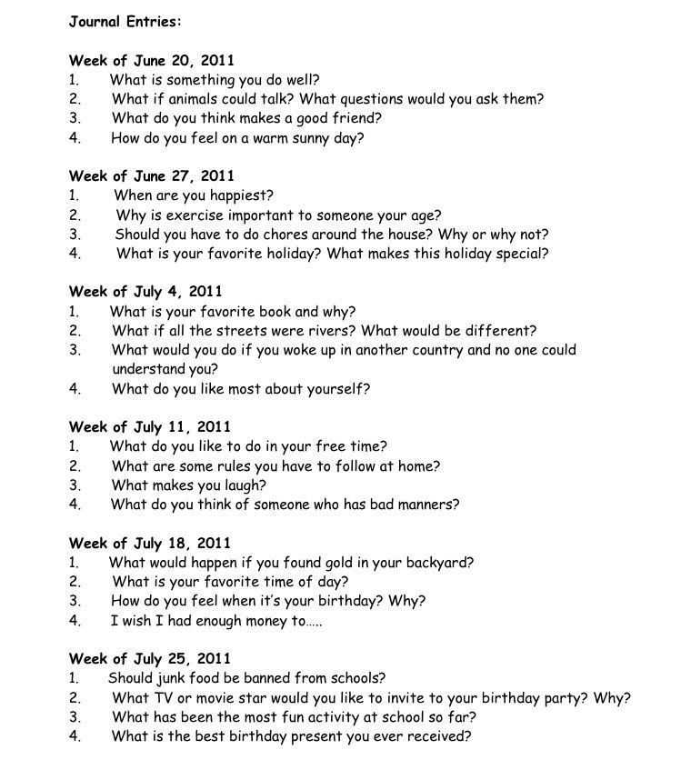 4th grade writing topics Grade 5 writing prompts page 4 november, 2012 imagine your friend has a car that talks and flies the car can do other amazing things too your.