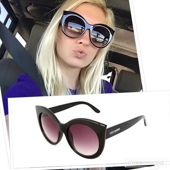 52a9c2bae9 NWT Steve Madden cat eye glasses All black cat eye glasses! Brand new with  tags Steve Madden Steve Madden Accessories Sunglasses