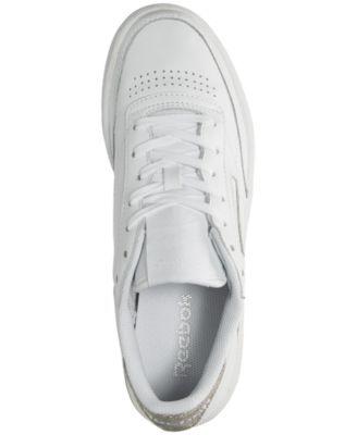 f1c2d6cd78dac Reebok Women s Club C 85 Diamond Casual Sneakers from Finish Line - WHITE  GUM 6.5